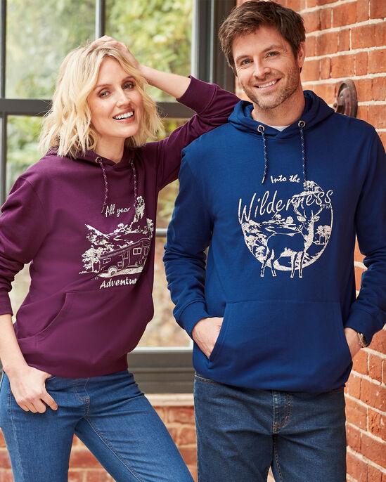 Organic Cotton Printed Hooded Sweatshirt
