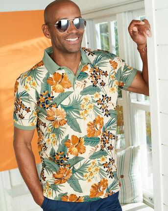 Pique Printed Polo Shirt