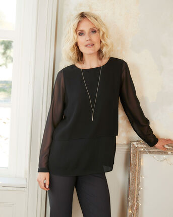 Tres Chic Layered Look Tunic Top
