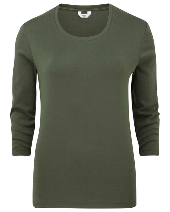 Wrinkle Free Scoop Neck Top