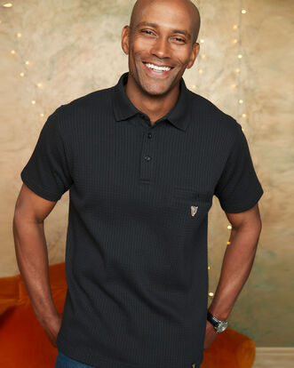 Guinness® Short Sleeve Textured Pocket Polo