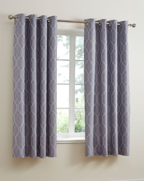 "Cantello Jacquard Eyelet Curtains 66x72"""