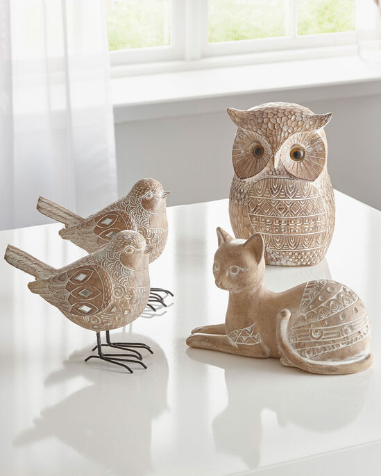 Carved Sandstone Effect Owl