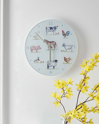 Country Farm Glass Clock