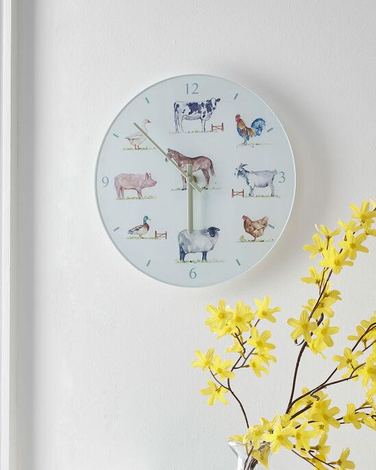 Country Farm Glass Clock