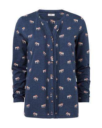 Elephant Print Jersey Blouse