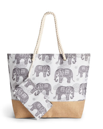 Elephant Bag and Purse Set