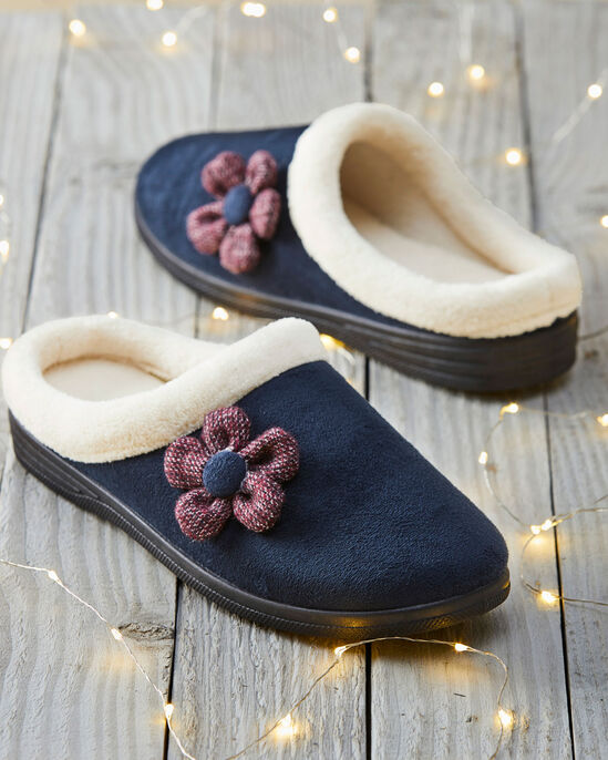 Flower Mule Slippers