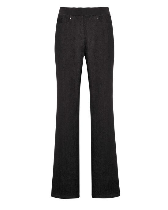 Premium Pull-On Rib Waist Denim Jeans