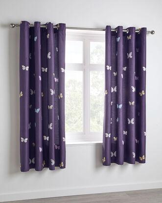 """Alysha Eyelet Curtains 66x72"""""""