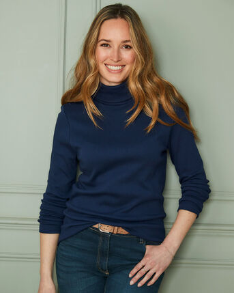 Cosy-Up Long Sleeve Roll Neck Top