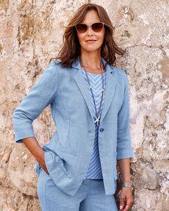 Linen-blend Jacket