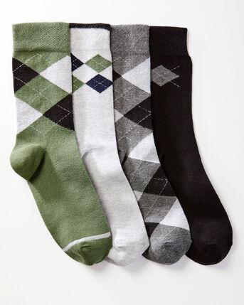 4 Pack Comfort Top Argyle Socks