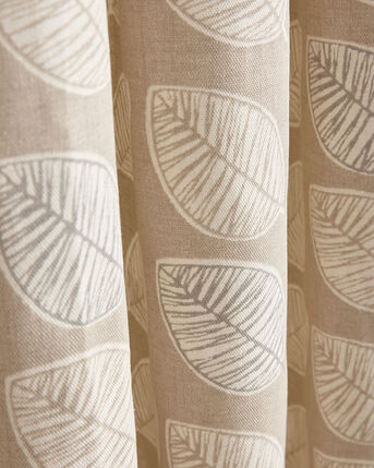 Leaf Print Eyelet Curtains
