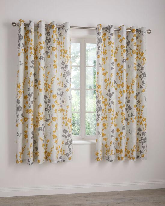 "Sienna Eyelet Curtains 66x72"""