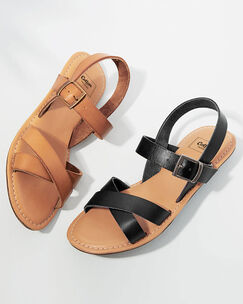 Leather Cross Over Sandals