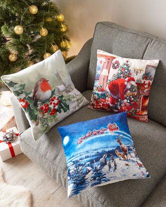 Christmas Tree Light Up Cushion