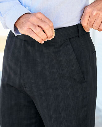 Flat Front Check Comfort Trousers