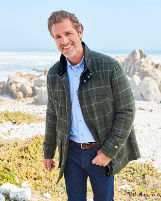 Durham Wool-blend Check Coat