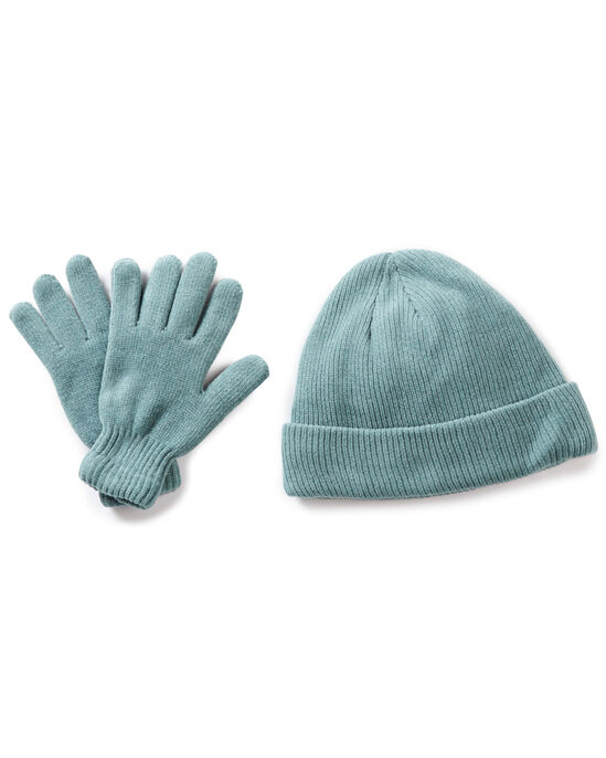 Chenille Thermal Hat and Glove Set