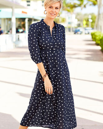 Spot Frockstar Button-through Long Dress