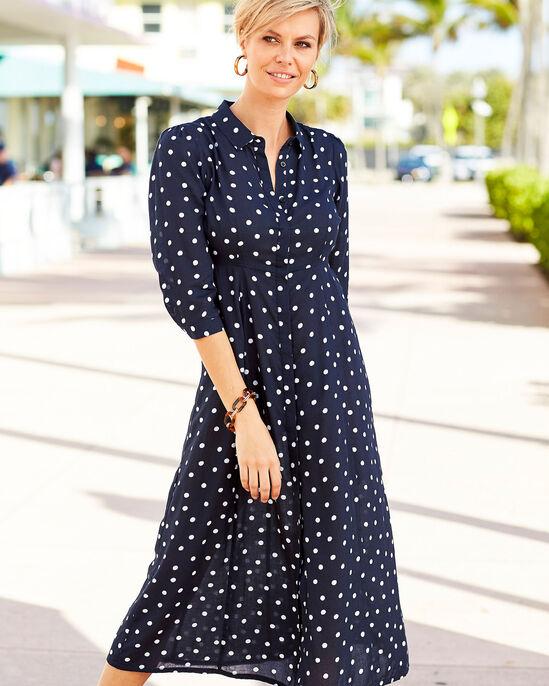 Button-through Long Printed Dress