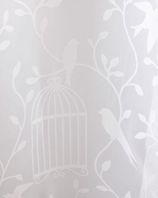 "Birdcage Print Voile (Pair) 55X54"""