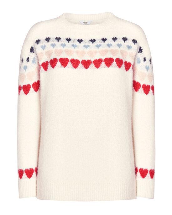 Skip-A-Beat Knitted Heart Jumper