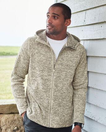 Herringbone Knit Fleece Jacket
