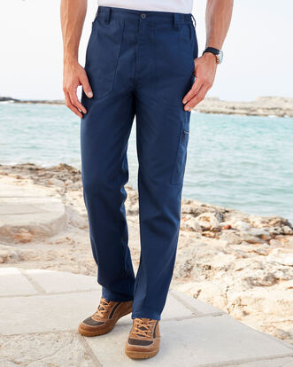 db53e4e121 Men's Trousers | Pleated & Pull on Trousers | Cotton Traders