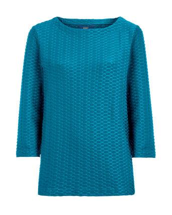 No-Fuss Textured Jersey Top
