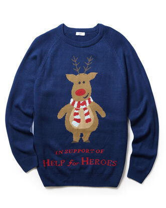 Navy Crew Neck Christmas Jumper