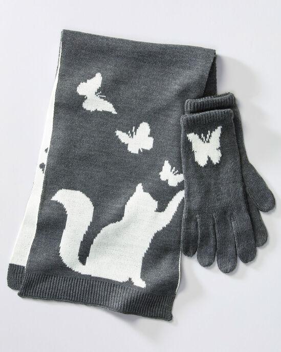 Animal Scarf and Glove Set