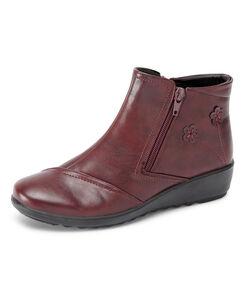 Flexisole Dual Zip Flower Detail Boots