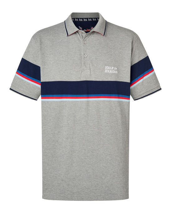 502dadcc2d7 Help For Heroes Wide Stripe Polo Shirt at Cotton Traders