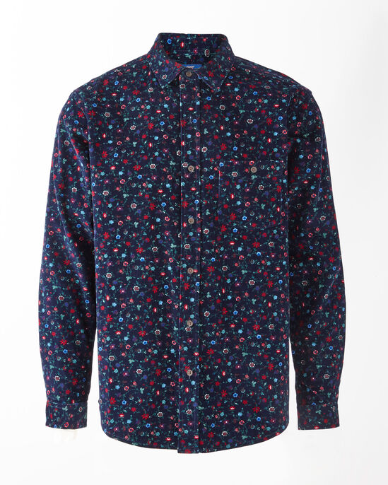Long Sleeve Printed Cord Shirt