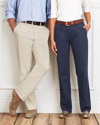 Ladies Flat Front Chino Trouser