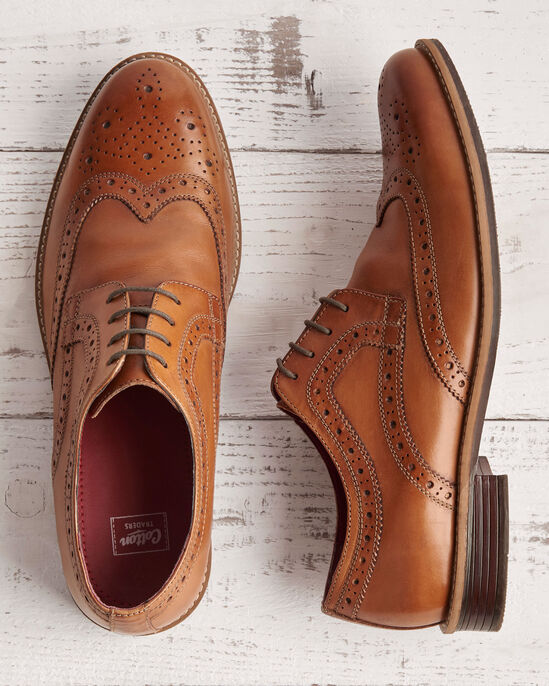 Leather Lace-up Brogue Shoes