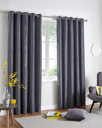 Luxury Chenille Eyelet Curtains