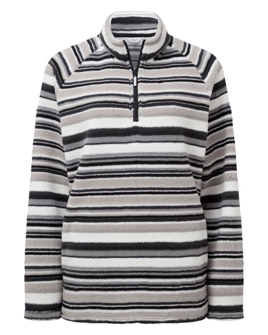 Printed Soft Fleece Half Zip Top