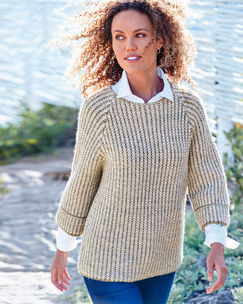 Textured Jumper & Shirt Set