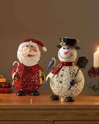 Light Up Filigree Christmas Statues