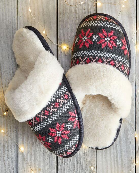 Fair Isle Mule Slippers