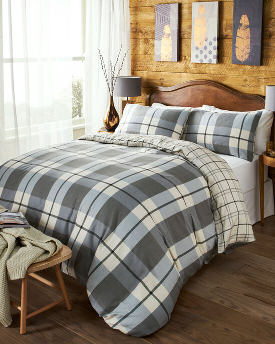 Brushed Cotton Check Duvet Set