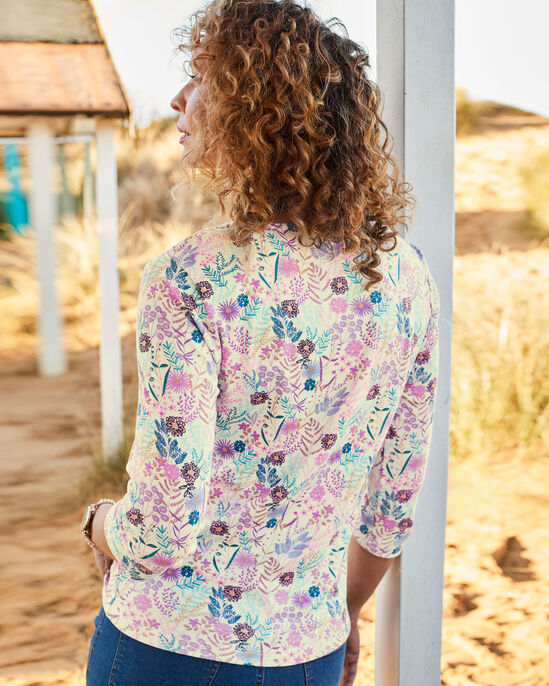 Florals Forever Printed Jersey Top