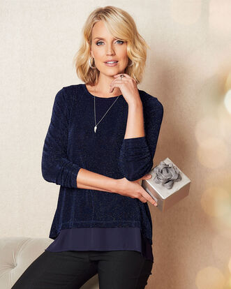 Cross Back Sparkle Tunic