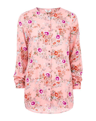 Floral Print Longline Shirt