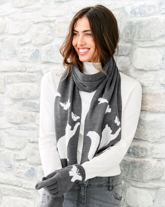 Animal Scarf and Glove Set