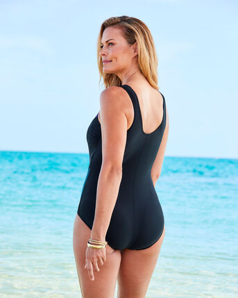 Tummy Control Panelled Illusion Swimsuit