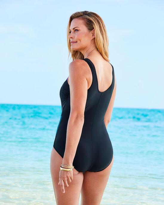 Tummy Control Panelled Illusion Swimsuit
